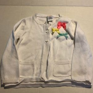 Gymboree white cardigan with bows 2T 24 mo